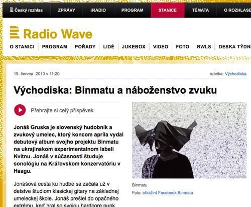 radio wave about binmatu