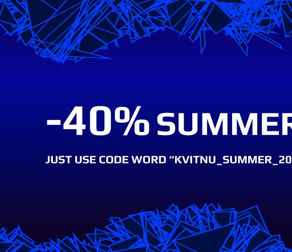 -40% SUMMER SALE ON KVITNU!