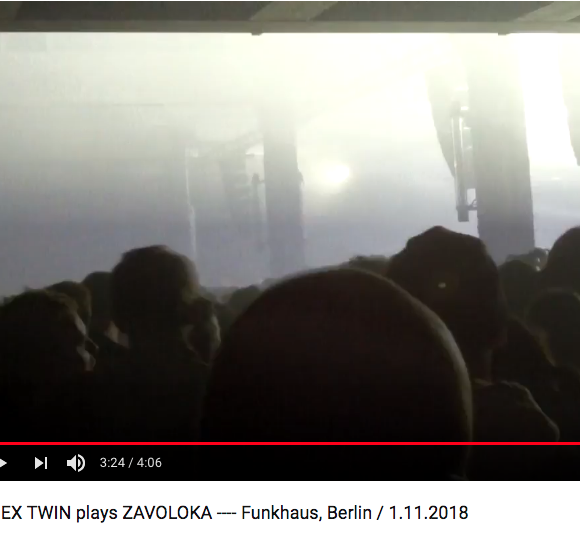 APHEX TWIN plays ZAVOLOKA at Funkhaus, Berlin / 1.11.2018